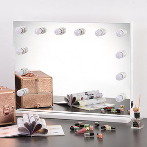 Yescom Hollywood Vanity Mirror 34x26 in Tabletop Wall Mount