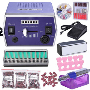 Yescom Nails Care Manicure Electronic Nail Drill File Machine Set
