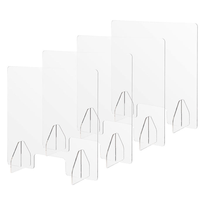 "Yescom Sneeze Guards with Window Acrylic Desk Partitions 24x24"" 4-Pack"