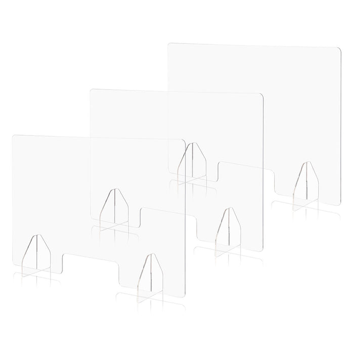 "Yescom Sneeze Guards with Window Acrylic Desk Partitions 36x24"" 3-Pack"