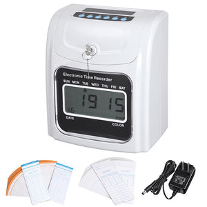 Yescom Digital Time Attendance Clock Weekly Monthly with Timecard