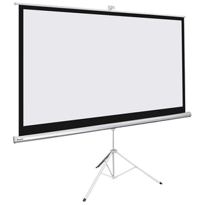 InstaHibit Retractable Manual Tripod Portable Projection Screen 100""