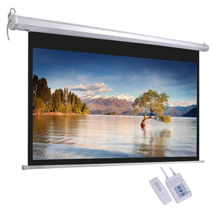 "InstaHibit Retractable Motorised Projection Screen 100"" Wall Mounted"
