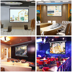 "InstaHibit 4:3 Retractable Manual Projection Screen 72"" Ceiling Wall"