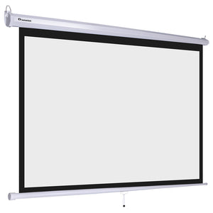 "InstaHibit 16:9 Retractable Manual Projection Screen 100"" Ceiling/Wall"