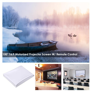 "InstaHibit Outdoor Movie Projector Screen PVC Material 100"" 16:9"