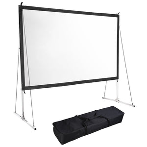 InstaHibit Outdoor Portable Projection Screen w/ Stand 16:9 120""