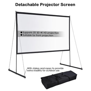 Yescom Outdoor Portable Projection Screen PVC w/ Metal Stand 100in 16:9