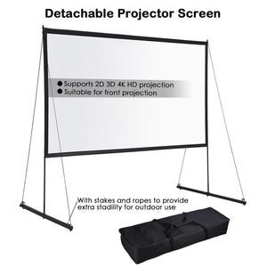 Yescom Outdoor Portable Projection Screen PVC w/ Metal Stand 120in 16:9