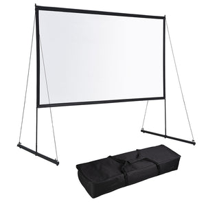 Yescom Outdoor Portable Projection Screen PVC w/ Metal Stand 150in 16:9