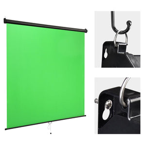 Yescom Retractable Green Screen Video Chromakey Backdrop 7x6ft (Preorder)