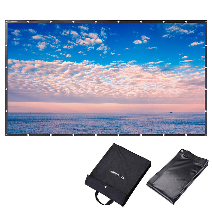 "InstaHibit 84""-150"" 16:9 Movie Projector Screen PVC Front Material"