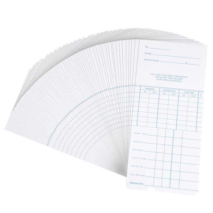 Yescom Attendance Cards Weekly Records 50 Card / Pack