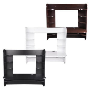 Yescom Wall Mounted Floating Desk w/ Shelves