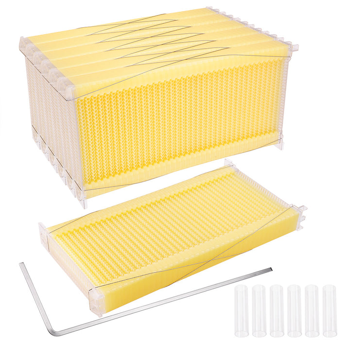 Yescom 7X Automatic Flow Beekeeping Honey Comb Beehive Frames Kit
