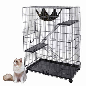 Yescom Pet Cages Cat Crate Playpen Hammock Bench