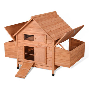 Yescom 59x39x41 in Poultry Hen Chicken Coop Wooden Cage Nesting Box