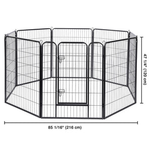 "Yescom Heavy Duty Dog Playpen 48"" Tall 8-Panel Puppy Pen Metal"