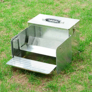 Yescom Poultry Chicken Auto Feeder Self Opening Aluminum Feed Tank