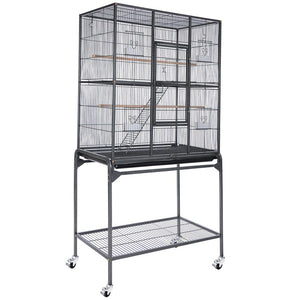 "AquaBasik Aviary Birds Cages w/ Removable Cart 30""x18""x64"" (Preorder)"
