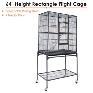 "Yescom Aviary Birds Cages w/ Removable Cart 30""x18""x64"""