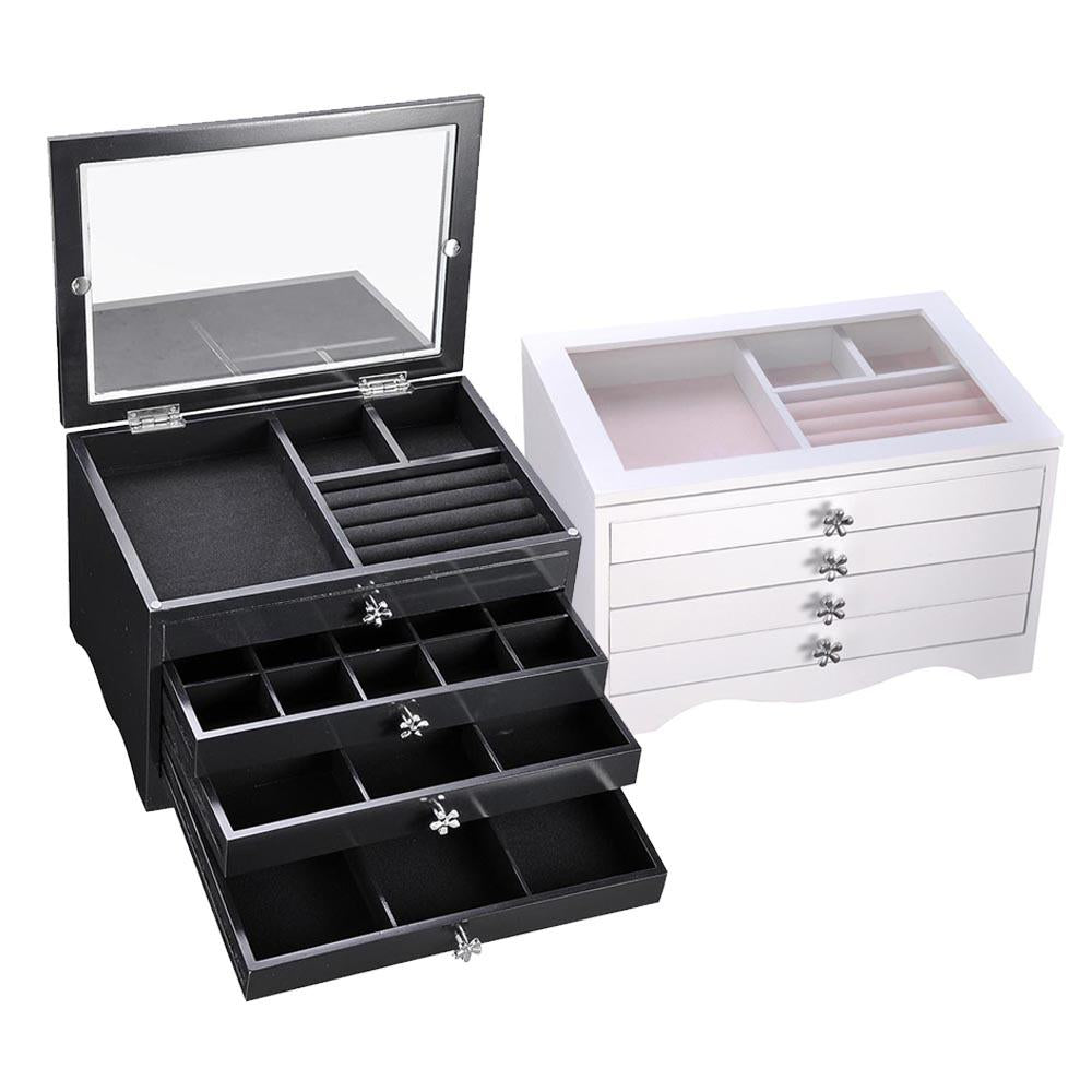 413687dcf Jewelry Organizer Box with Clear Lid Ring Necklace Color Opt – yescomusa