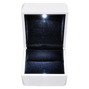Yescom Wedding Proposal LED Light Jewelry Ring Box Single/ Double Options