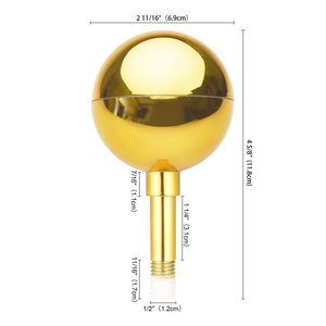 Yescom Golden Ball Flagpole Pole Top Ornament