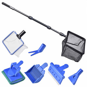 AquaBasik Aquarium Cleaning Tools Fish Tank Clean Kit 6 in 1