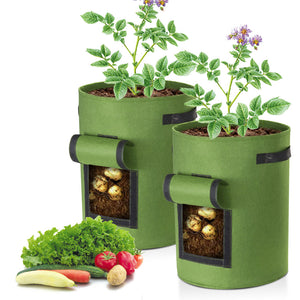 Yescom Pack of 2 10 Gallon Potato Grow Bags Fabric Pots w/ Handles