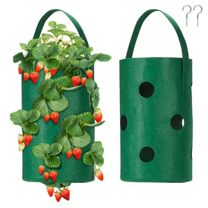 Yescom 2-Pack Strawberry Grow Bags Hanging Fabric Pots