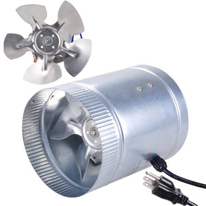 "Yescom Duct Fan Vent Exhaust Blower 6"" 260 CFM Aluminum Blade"