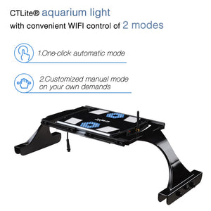 CTLite WiFi Controlled Aquarium Light w/ Bracket & Hanging Ropes