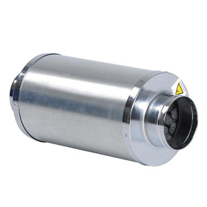 "Yescom 4"" Inline Fan Noise Muffler Air Duct Silencer"