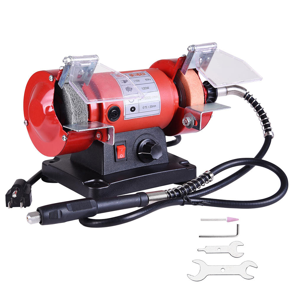 Awesome Yescom 3 Mini Bench Grinder Polisher W Flex Shaft Variable Speed Caraccident5 Cool Chair Designs And Ideas Caraccident5Info