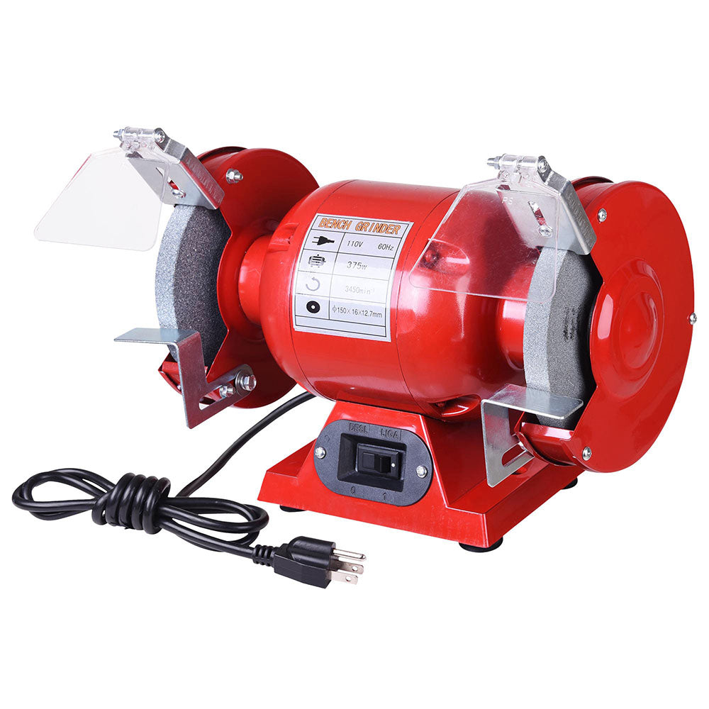 Super Yescom 6 Bench Grinder Polisher 1 2 Hp With Tool Rests Eye Shields Gmtry Best Dining Table And Chair Ideas Images Gmtryco