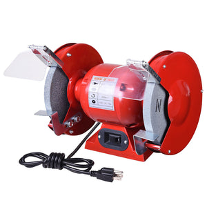 "Yescom 8"" Bench Grinder Polisher 1/2 HP with Tool Rests Eye Shields"