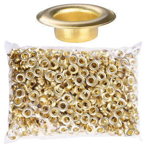 "Yescom #2 Brass Grommet 1000x 3/8"" for Semi-Automatic Grommet Machine"