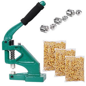 Yescom Grommets Tool Machine with #0 #2 #4 Dies 900pcs