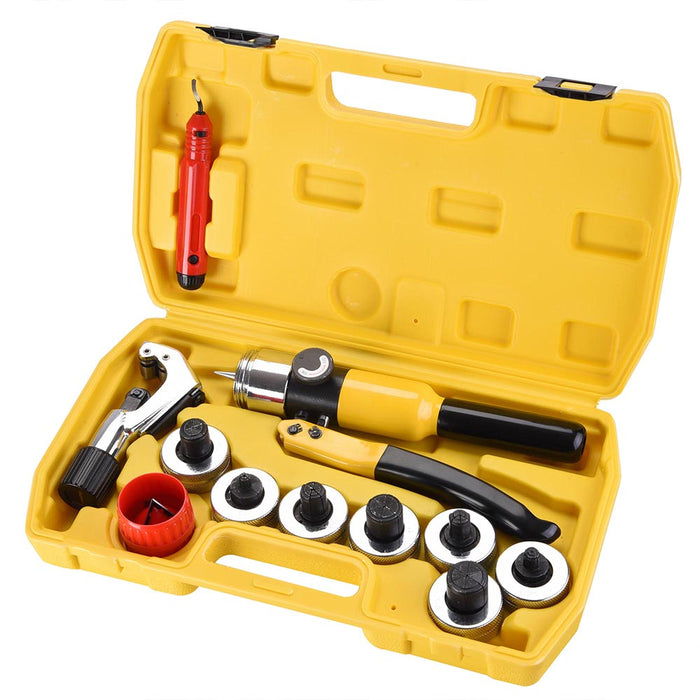 Yescom Hydraulic Tube Expander Swaging Pipe Expanding Tool 7 Heads Kit