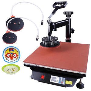 Yescom Digital Heat Press Sublimation Transfer Machine 6in1 15x15 Black