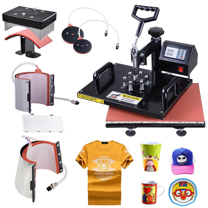 Yescom Digital Heat Press Sublimation Transfer Machine 6in1 12x15 Black