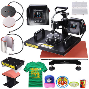 PNR Digital LCD Heat Sublimation Transfer Machine 5in1 12x15