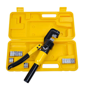 Yescom Hydraulic Cable Terminal Wire Crimping Tool 10-Ton 9pcs