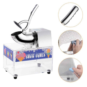 Yescom Electric Snow Cone Ice Shaver with Acrylic Case, Small