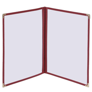 Yescom 30x Menu Covers Cafe Restaurant Double 8.5x11 Red