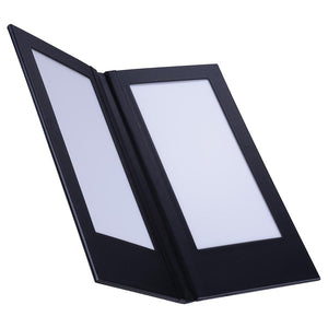 Yescom LED Back Lit Folded Menu Holder Dual Page 5.5x11in