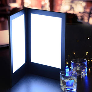 Yescom LED Back Lit Folded Menu Holder Dual Page 8.5x11in