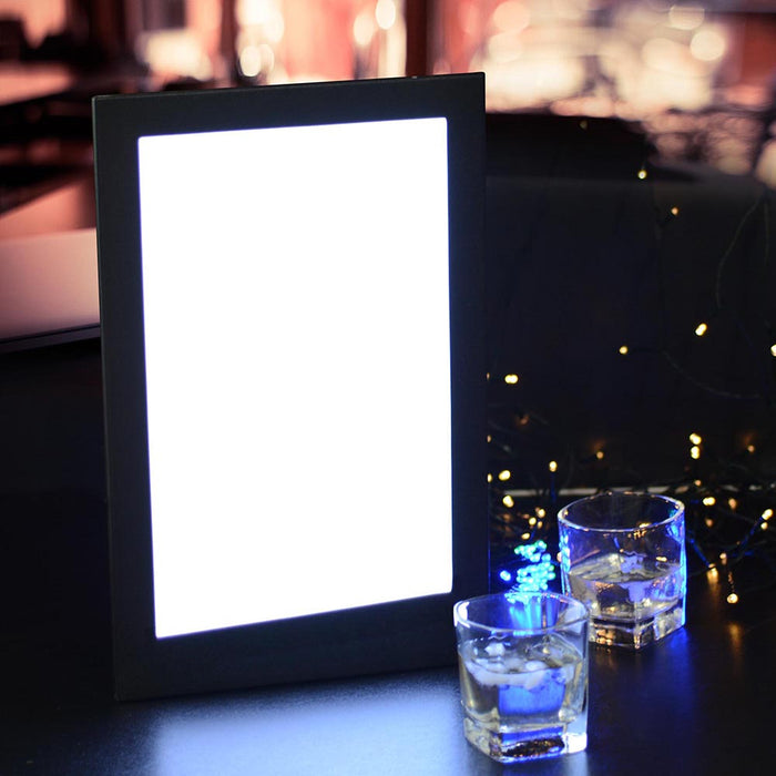 Yescom LED Back Lit Menu Holder Single Page 8.5x14in