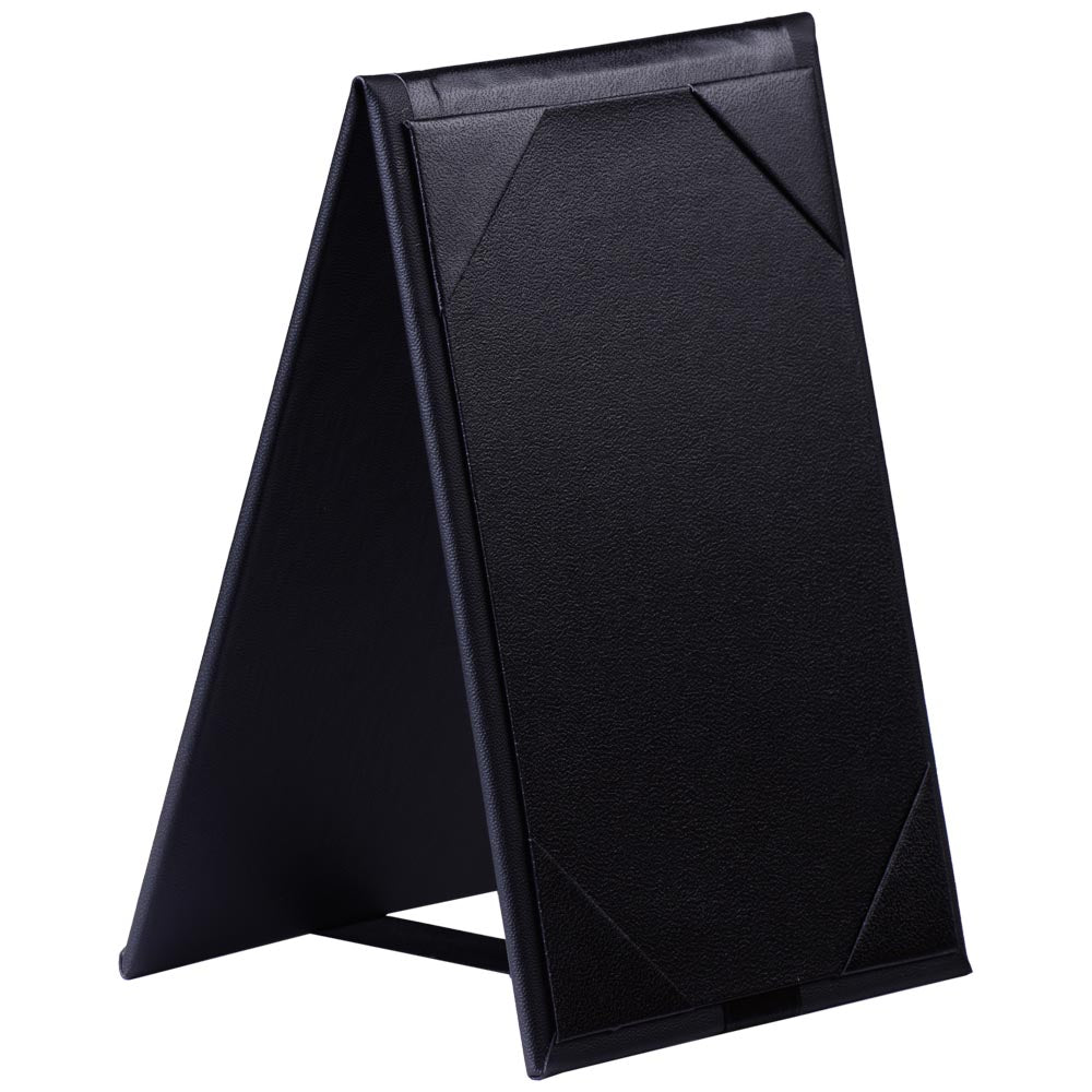 Yescom 10x Leather Double Sided Table Tent Menu Sign Holder